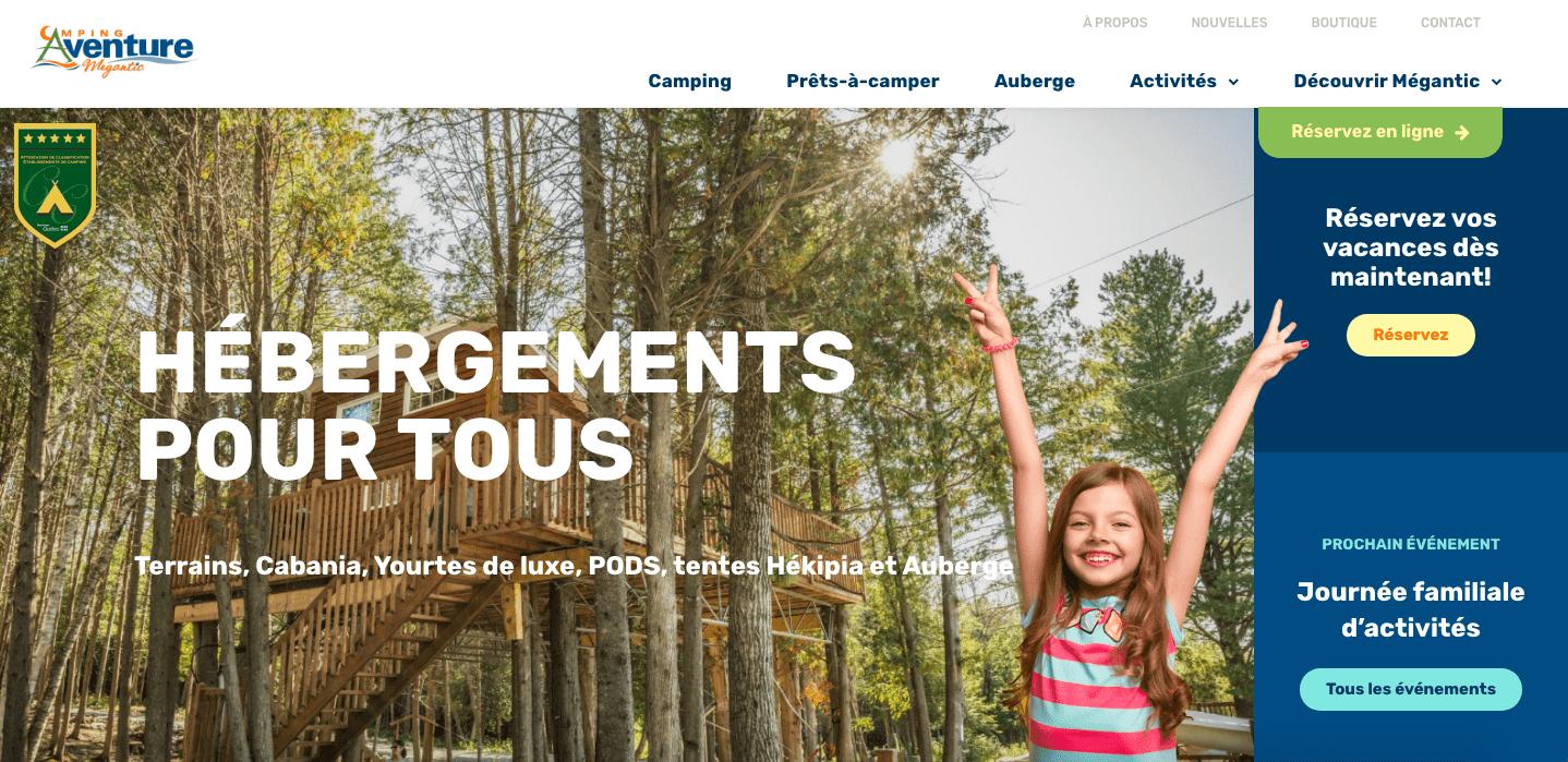 Nouveau site web du camping