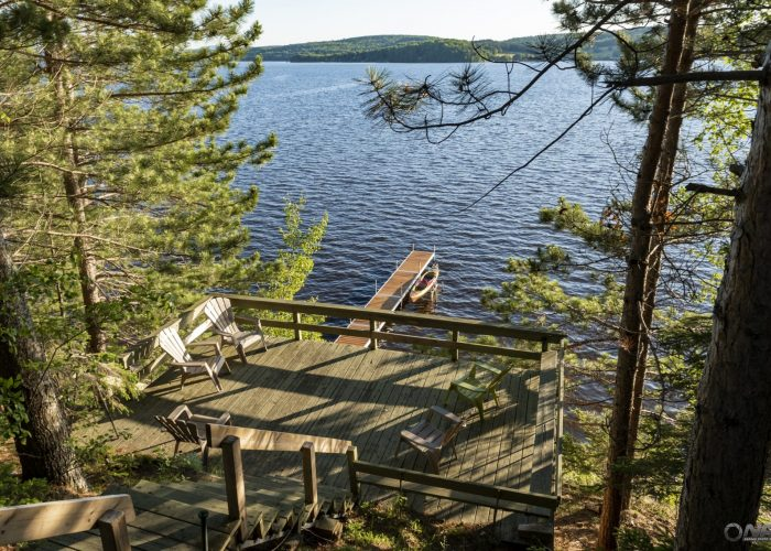 Vue sur le lac - Auberge Aventure