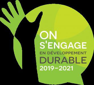 Logo On s'engage en développement durable