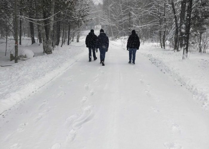 Marche en hiver Camping Aventure