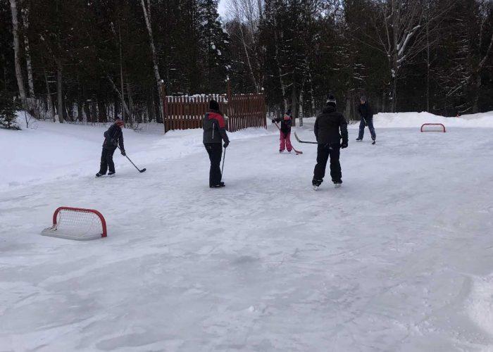 Patinoire hockey Camping Aventure
