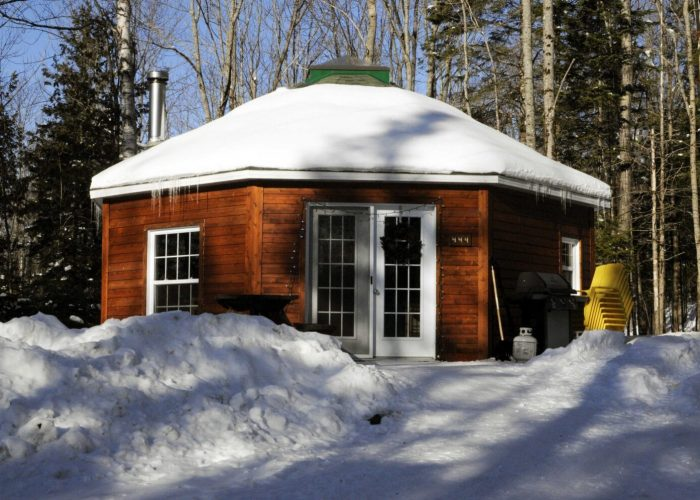 Yourte hiver Camping Aventure